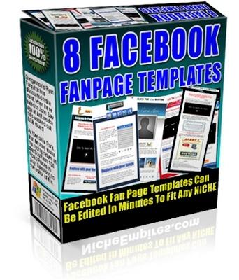 Product picture FaceBook FanPage Templates_PLR
